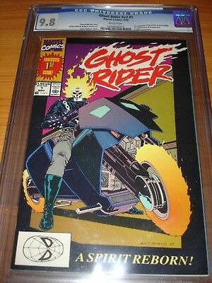 GHOST RIDER #1 (V2) - CGC 9.8 NM/MT (1st App. of Dan Ketch ; White Pages)