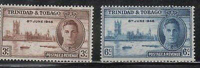 KING GEORGE VIth VICTORY STAMPS. TRINIDAD AND TOBAGO. MOUNTED MINT.