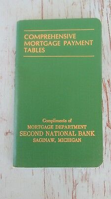 Comprehensive Mortgage Payment Tables Second national Bank Michigan 1970