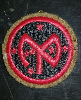 1930s Inter War US Army 27th Infantry Division Variation OD Green Wool Parch