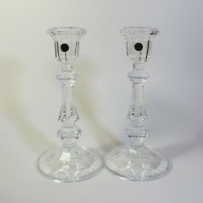 Cristal d'Arques MONCEAUX Candlesticks 2 Lead Crystal Candle Holders France