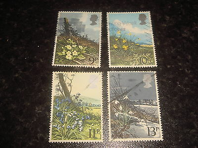 1979 - GB COMMEMORATIVE STAMPS - SPRING WILD FLOWERS - Set of 4 Used stamps