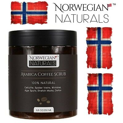 Coffee Body Scrub 100% Natural Arabica Anti-Cellulite Detox Stretch Marks 250g
