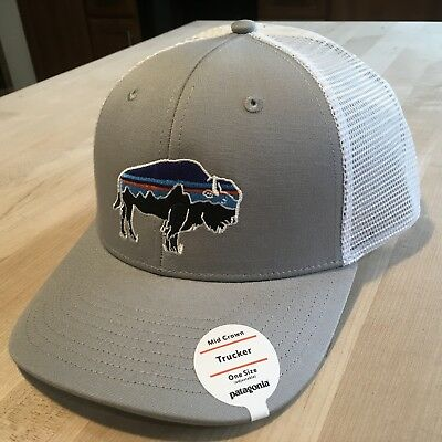 134d064c1328a PATAGONIA FITZ ROY Bison Trucker Hat New With Tags - Drifter Grey ...
