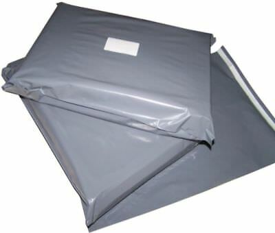 """250 x GREY PLASTIC MAILING BAGS ASSORTED MIXED SIZES 6x9 9x12 10x14 12x16"""" FREE"""