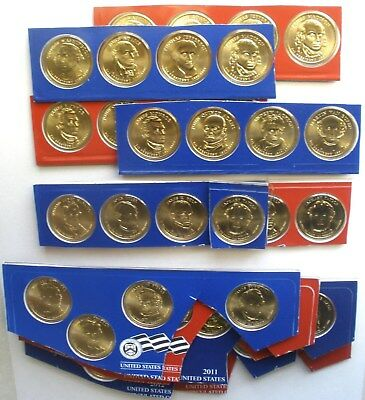 2007 2008 2009 2010 2011 2012 Satin Finish Mint Set BU Presidential 48 Dollars