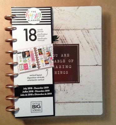 "NEW DESIGN! 2018-2019 Happy Planner CLASSIC ""FARMHOUSE""  *VERTICAL LAYOUT*"