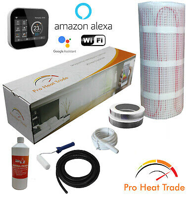 Electric Underfloor Heating mat kit 200w per m2 All Sizes PRO Heat Trade (Y)