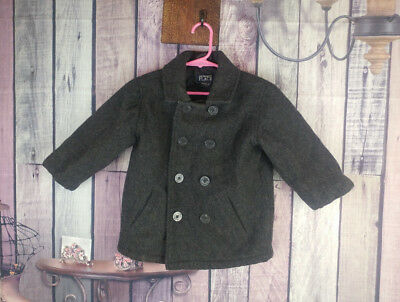 cbf3f06106e2 BOYS 3T 36 months TCP the childrens place wool grey peacoat anchor ...