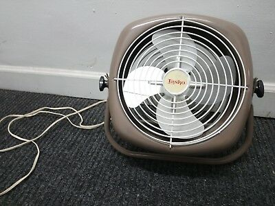 Vintage LASKO Electric Brown Table Floor Fan Tested and Works Excellent Clean