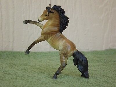 Breyer Stablemate Custom G3 Rearing Andalusian Pasteled into Zorse / Zebroid