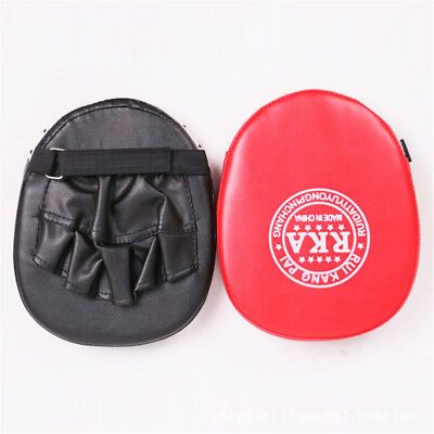 Leather Boxing Mitt Focus Punch Strike Pad Training Kick Target MMA Karate Muay