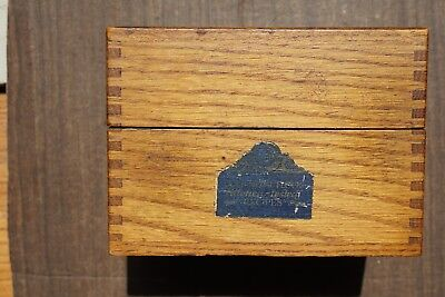 Beautiful Antique Betty Crocker Oak Recipe Box
