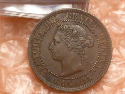 Canada 1888 Large Cent Almost Uncirculated #BB