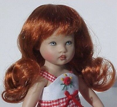 WIG Paige CARROT RED Made For Helen Kish Riley Doll DEBs