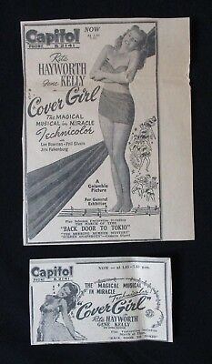 COVER GIRL 1945 Original movie advertising Rita Hayworth Gene Kelly musical