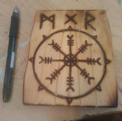 Viking Wood Art -  Vegvísir (1)