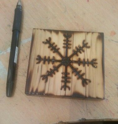 Viking Wood Art -  Vegvísir (3)