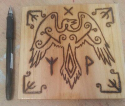 Viking Wood Art - Raven (2)