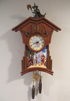 """""""Time for Oz"""" Cuckoo Clock-Bradford Exchange Limited Edition-Wizard of Oz"""