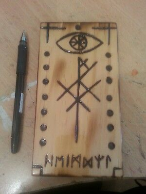 Viking Wood Art - Bind Rune of Protection