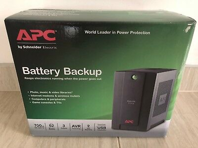 APC 700VA Back UPS 390W Uninterruptible Power Supply Surge Protector AVR AU Out
