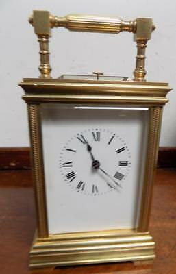 henry jacot brass cased repeating carriage clock