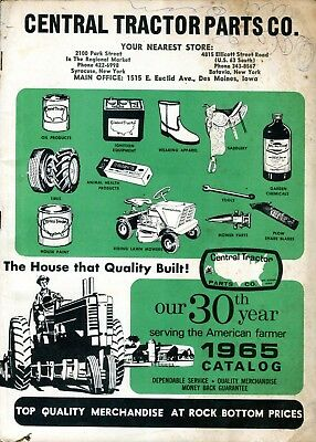 1965 Central Tractor Parts NY Catalog Vintage John Deere Farmall Fordson IH