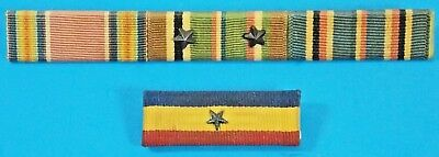 Lot of Two Vintage Military Ribbon Bars