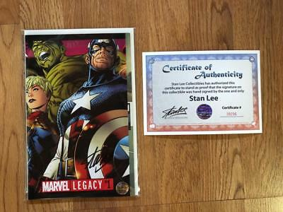 Marvel Legacy #1 Signed By Stan Lee W/coa Gatefold Cover