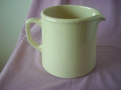 Australian Pottery Very Heavy Cream Coloured Jug R Fowler Large