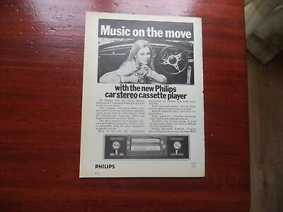 Philips   Car  Cassette Player   Vintage Advert   Must See