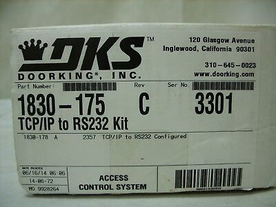 DKS DoorKing 1830-175 TCP/IP to RS232 Adapter for Ethernet Connector Kit - NOS
