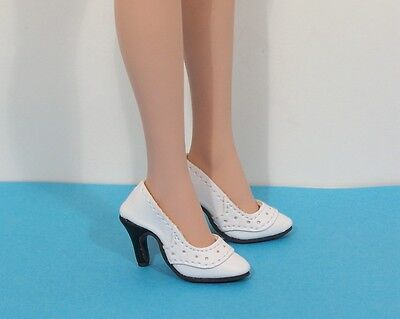 DOLL Shoes White on White pumps fit Ellowyne and High Heel Marley