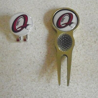 2 only  QLD  GOLF BALL MARKERS A QUALITY  DIVOT TOOL &  HAT CLIP SET