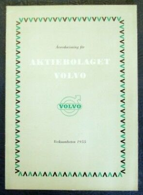 Volvo Annual Report For 1955 (Swedish Text).