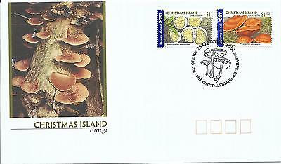 Christmas Island Fungi  set 2 International Stamps on FDC 25 Oct 2001 As Issued