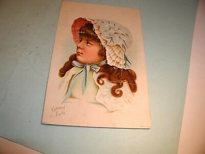 "Late 1800's "" National Tea Co.  "" Trade Card-Large Size"