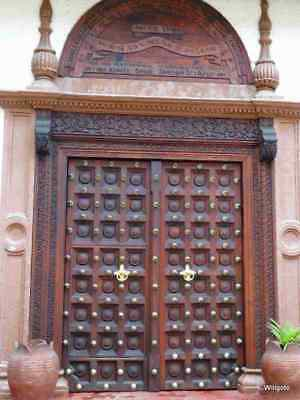 Historical  Authentic Zanzibar Sultan Double Doors (WIDE).  Sultan of Zanzibar