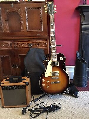 Stagg Electric Guitar - Gibson Les Paul LEFT HANDED 'Dark Sunburst'