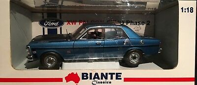 FORD FALCON GT HO Phase 2 XW STARLIGHT BLUE  BIANTE CLASSICS AS NEW 1/18 SCALE