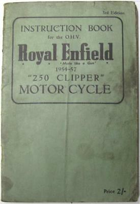 ROYAL ENFIELD OHV 250 Clipper 1954-57 Original Owners Motorcycle Handbook