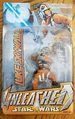Star Wars UNLEASHED Figure - LUKE SKYWALKER Hoth Snowspeeder Pilot - 2003 Hasbro