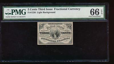 AC Fr 1226 $0.03 1864 fractional Third issue PMG 66 EPQ