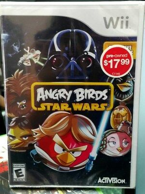Angry Birds Star Wars (2013) Pre-Owned Toys R Us Re-Sealed USA Nintendo Wii Game