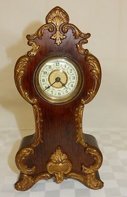 French Empire Style Mahogany Cased Mantle Clock