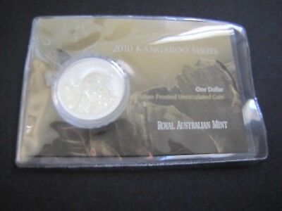 2010 $1 Kangaroo Series 1 oz. Silver Frosted Coin (20,000 Minted)