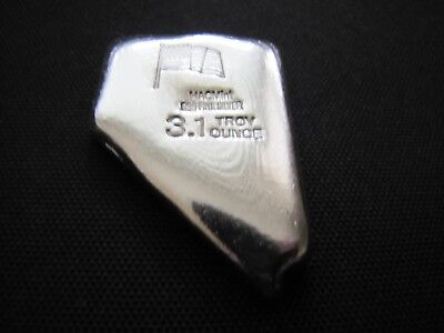 HACMint 3.1 oz 999+ Fine Silver NEVADA Hand Poured ART BAR
