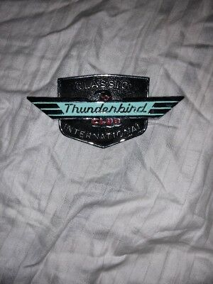 Classic Ford Thunderbird Club International Vintage Metal Grille Badge Emblem