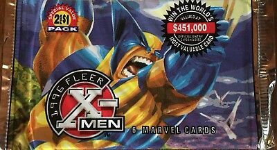 SALE!!!  2 For 1 NEW Sealed 1996 MARVEL X-MEN FLEER FOIL PACKS-6xCARDS-2Packs